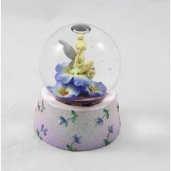 Snow globe fée Clochette DISNEY STORE fleurs mauve boule à neige 10 cm