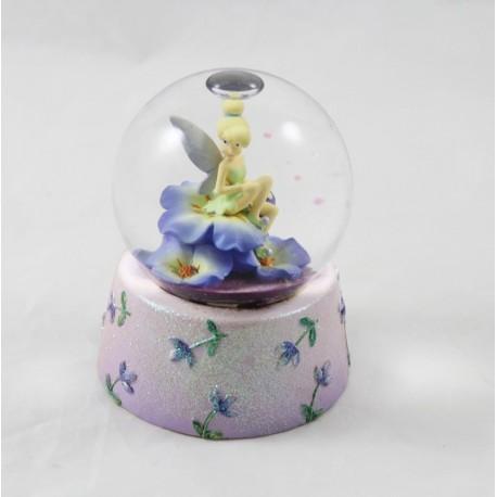Snow globe fairy Bell DISNEY STORE purple snowball flowers 10 cm