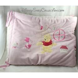 Tour de lit bébé DISNEY BABY Winnie l'ourson et Porcinet rose blanc