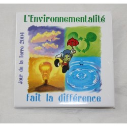 Badge Jiminy Cricket DISNEY Pinocchio Earth Day 2004 Environment