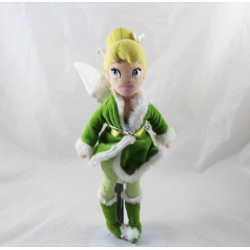 Fairy plush doll Tinker Bell DISNEY STORE winter green outfit 30 cm