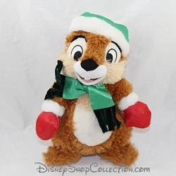 Disney Tic Ardilla Más y Tac Noel Invierno Gorra Verde 22 cm