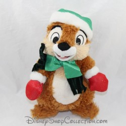 Disney Tic Squirrel Plus and Tac Noel Winter Green Cap Scarf 22 cm