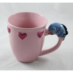 Taza de taza de cerámica Bourriquet DISNEY STORE corazón 3D