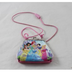 Purse wallet Princesses DISNEYLAND PARIS pink Beautiful Cinderella Jasmine Ariel ...