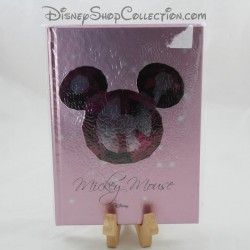 Mickey DISNEY Mickey Mouse notebook pink white leaves A5