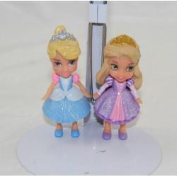 Mini muñeca set Princesa DISNEY mini toodler Anna y Rapunzel 8 cm