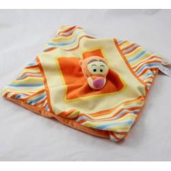 Doudou flat Tigger DISNEY NICOTOY square stripes puppet 24 cm