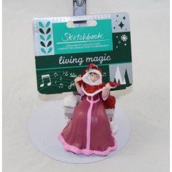 Beautiful DISNEY STORE ornament Beauty and the Beast Sketchbook living magic singing Christmas