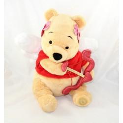 Peluche Winnie l'ourson DISNEY STORE édition limitée St Valentin Cupidon coeur 40 cm