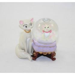 Globo de nieve Marie y duquesa DISNEY Los Aristochats pequeña bola de nieve RARE 7 cm