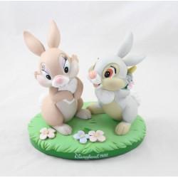 Grosse figurine Pan Pan et Miss Bunny DISNEYLAND PARIS résine 13 cm