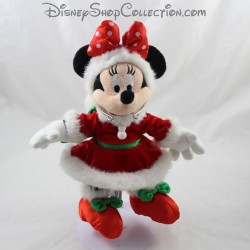 Peluche Minnie DISNEYLAND PARIS Christmas red knot dress red Disney 27 cm