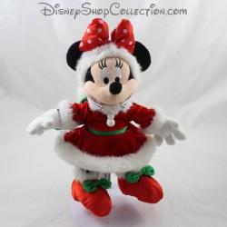 Peluche Minnie DISNEYLAND PARIS Navidad nudo rojo vestido rojo Disney 27 cm