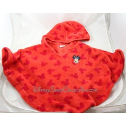 Cape Minnie DISNEY capuche rouge velours 3/4 ans