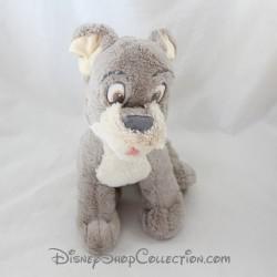 Peluche chien Scamp DISNEY STORE La Belle et le Clochard gris 26 cm