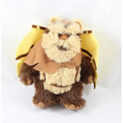 Peluche Ewok Wicket DISNEYLAND PARIS planner Star Wars wings brown Disney 21 cm