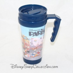 DISNEYLAND PARIS travel mug with multi-character cover