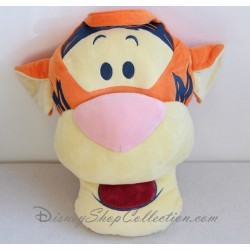 Coussin tête Tigrou DISNEY Winnie l'ourson orange jaune 36 cm