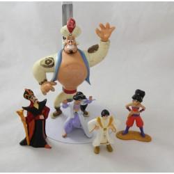 Set of figurines Aladdin DISNEY Genie Jasmine Aladdin Jafar batch of 5 figurines
