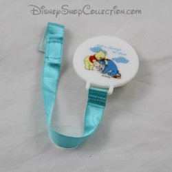 Winnie the Pooh and Bourriquet DISNEY blue satin 21 cm