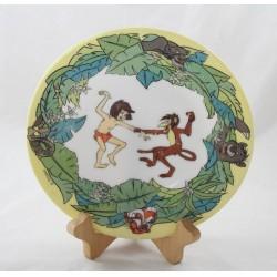 Placa El libro de la selva DISNEY ARCOPAL Mowgli Baloo Kaa Sherkan Bagheera cerámica