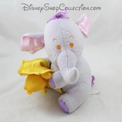 Peluche Lumpy éléphant FISHER PRICE Disney doudou oiseau jaune 23 cm