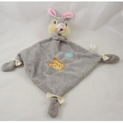 Flat doudou rabbit Pan Pan DISNEYLAND PARIS Panpan Bambi gray white knots Disney 40 cm