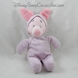 Peluche cochon Porcinet DISNEY NICOTOY capuche pyjama combinaison 24 cm