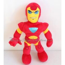 Peluche Iron Man MARVEL super héros Nicotoy rouge jaune 30 cm