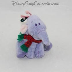 Peluche à suspendre éléphant DISNEY Lumpy ornement sapin de noel 10 cm
