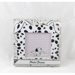 Photo Frame The 101 Dalmatians PRIMARK Disney square black wood and white puppies 16 cm