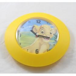 Clock Simba DISNEY The King orange lion Hachette round