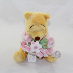 Bear Winnie the Cub DISNEY STORE pink flower bouquet To You 18 cm