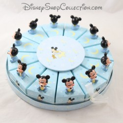 Gateau dredged box DISNEY BABY Mickey blue containing triangle x12