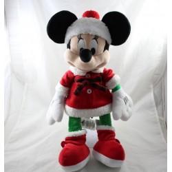 Cuddly Minnie DISNEY STORE madre Navidad vestido rojo 2017 40 cm