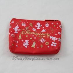 Porte monnaie Noel DISNEYLAND PARIS Magical Christmas rouge Disney
