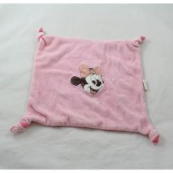 Doudou flat Minnie CASINO Disney square pink knots 20 cm