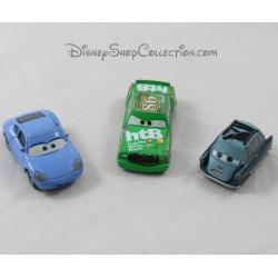 Lote de 3 coches de metal Coches Disney Pixar Sally, Chick Hicks y Profesor Z