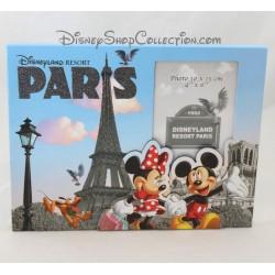 Cadre photo DISNEYLAND RESORT PARIS Mickey Minnie relief Disney 23 cm