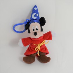 Teddy key holder Mickey DISNEYLAND PARIS magician Fantasia hat 16 cm