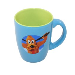 Taza Dingo DISNEY Taza de cerámica esso verde azul goofy 10 cm