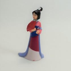 Figurine Mulan DISNEY éventail rouge  7 cm