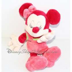 Peluche Minnie DISNEYLAND PARIS rose rouge rigole 25 cm