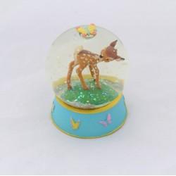 Snow globe Bambi DISNEY papillons petite boule à neige 9 cm