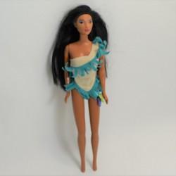 Modelo muñeca Pocahontas DISNEY MATTEL vestido azul indio 30 cm