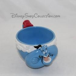Taza el genio WALT DISNEY COMPAGNY Aladdin azul vintage taza de plástico 8 cm