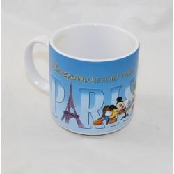 Taza DISNEYLAND RESORT PARIS Mickey Minnie Dingo Donald rue de Paris 12 cm