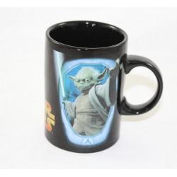 Mug Master Yoda STAR WARS Jedi LucasFilm taza de cerámica negra Disney 12 cm