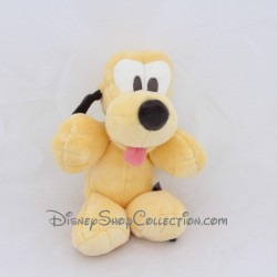 Peluche chien SIMBA DICKIE Disney Pluto beige collier vert 26 cm